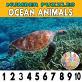 Number Strip Puzzles for Ocean Animals | Number Order Sequ