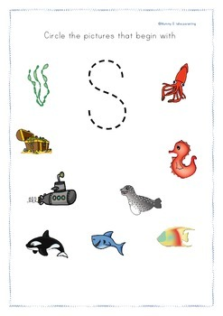 ocean themed phonics pack