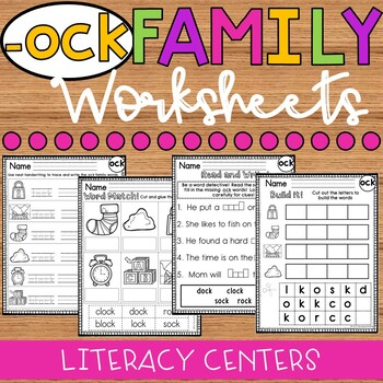 ock Word Family Worksheets