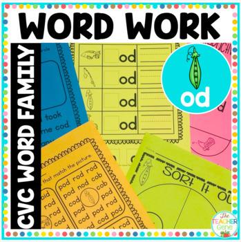 CVC Word Family 'od' Word Work