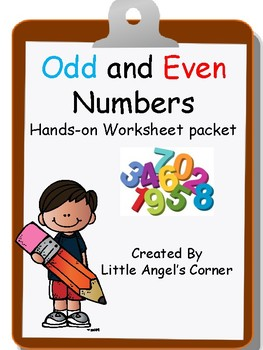 odd and even number hands-on worksheet for 1st/2nd/ESE