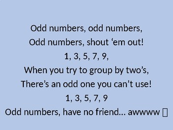 odd and even numbers song