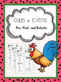 odds and evens pretest, posttest, and retest