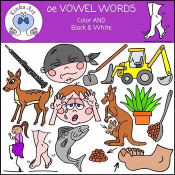 oe Vowel Words {Long O} Clip Art