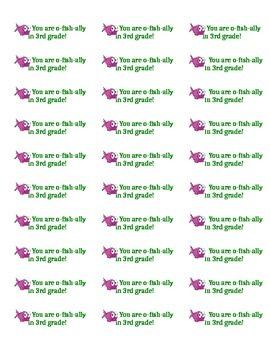 o'fish-ally a 3rd Grader label