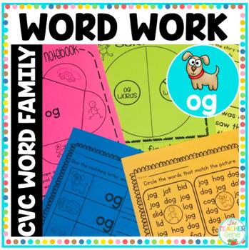'og' Word Family Word Work