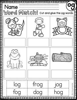 og Word Family Worksheets