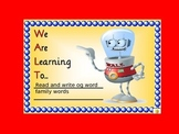 og word family- QLD FONT (Australian Curriculum)