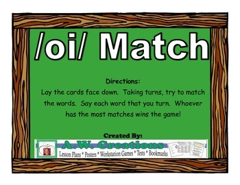 /oi/ Match Workstation Game or Small Group Activity