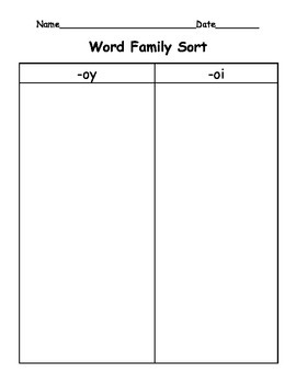 -oi and -oy Word Families
