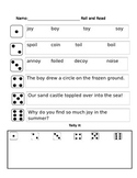 oi and oy phonics partner reading game