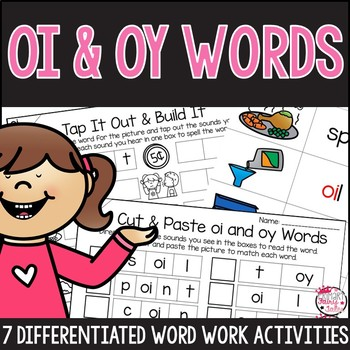 OI and OY Word Work Activities