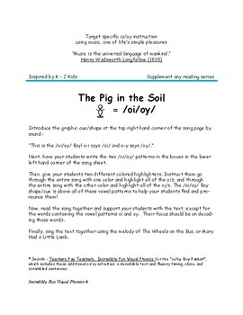 """oi/oy Boy Song """"The Pig in the Soil"""""""