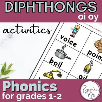 oi oy Dipthong Word Work Packet with an assessment