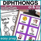 Diphthongs   OI OY   Phonics Activities