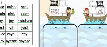 oi /oy Phonic sorting Year 1 Phonics screen