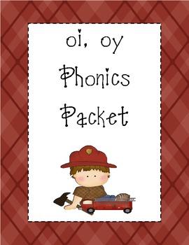 oi, oy Phonics Packet