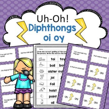 oi oy Reading Fluency Game Uh-Oh!