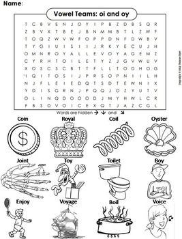 oi oy vowel team phonics worksheet digraphs word search coloring sheet. Black Bedroom Furniture Sets. Home Design Ideas