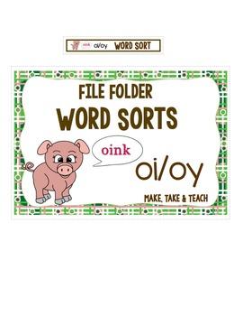 oi oy Word Sort- File Folder Word Sorts