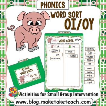 oi oy Word Sort- File Folder Word Sorts