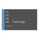 L.2.2.d oi, oy, au, aw Diphthongs