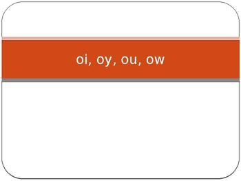 oi, oy, ou & ow powerpoint
