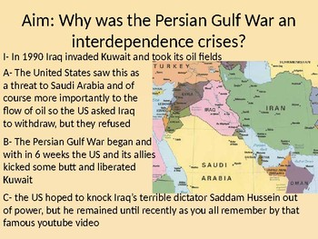 oil and the Gulf War Powerpoint