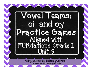 oi/oy Vowel Team Pack Practice Pack