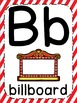 Hollywood Theme ABC Posters - Large, Small & Flashcards