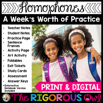 Homophones Commonly Confused Words Week Long Lessons! Common Core Aligned L4.1g