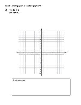 Solving systems of equations graphically WORKSHEET (ON-LEVEL)