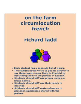 on the farm circumlocution FRENCH