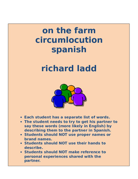 on the farm circumlocution SPANISH