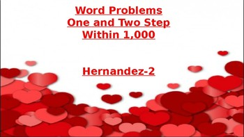 one and two step word problems within 1,000
