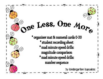 one more, one less: number sequence and magnitude activities