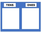 ones and tens place value chart