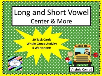 Long and Short Vowel -- Back to School Theme
