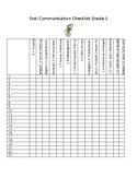 ontario grade 1 oral communication checklist