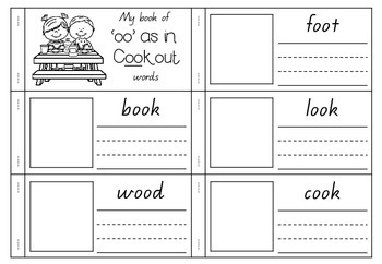 'oo' as in Cookout - Spelling Activity Packet