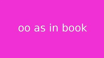 oo as in book