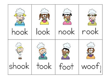 oo as in cook  Phonics Game