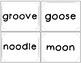 oo as in zoo word cards