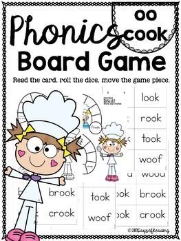 oo cook PHONICS BOARD Game