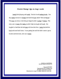 """oo"" ""dge"" long e Reading Practice Passage, Phonics Practice (Bundled Stories)"