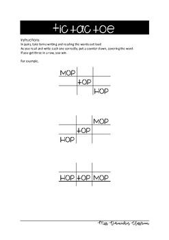 op ot og word families spelling activities
