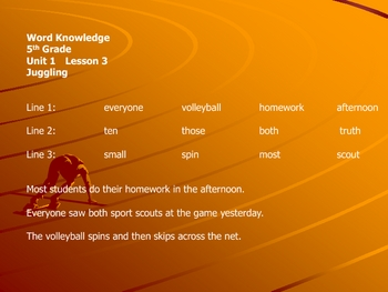 open court unit 1 word knowledge