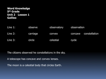 open court unit 2 word knowledge