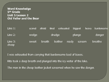 open court unit 5 word knowledge