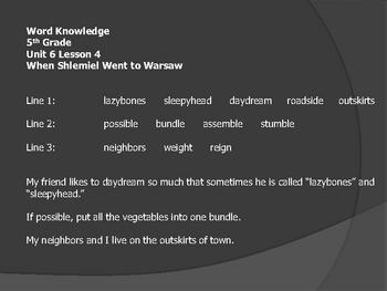 open court unit 6 word knowledge